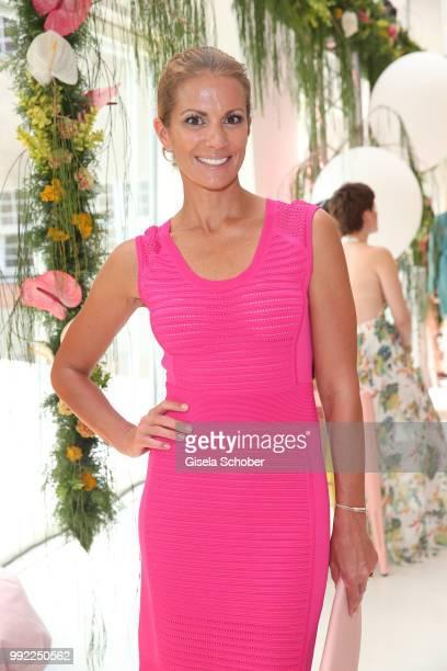 Kerstin Linnartz attends The Fashion Hub during the Berlin Fashion Week Spring/Summer 2019 at Ellington Hotel on July 5 2018 in Berlin Germany