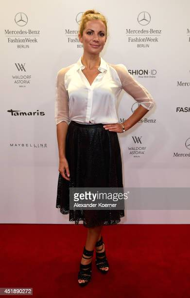 Kerstin Linnartz attends the Glaw show during the MercedesBenz Fashion Week Spring/Summer 2015 at Erika Hess Eisstadion on July 9 2014 in Berlin...