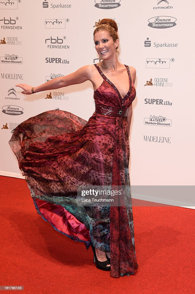Kerstin Linnartz attends the Goldene Henne 2013 at Stage Theater on September 25, 2013 in Berlin, Germany.
