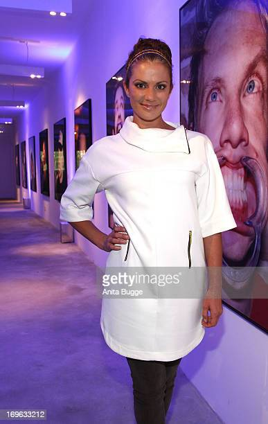 Kerstin Linnartz attends the opening of the 'Niels Ruf Art Exhibition' at Camera Works on May 29 2013 in Berlin Germany