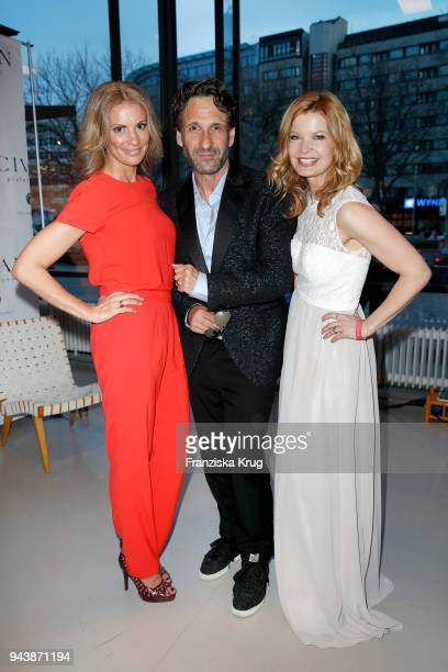 Kerstin Linnartz Falk Willy Wild and Eva Imhof attend the Victress Awards gala on April 9 2018 in Berlin Germany