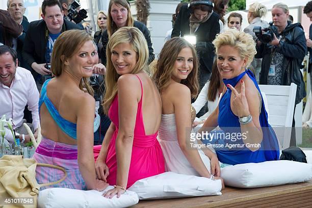 Kerstin Linnartz Verena Wriedt Lucia Strunzand Claudia Effenberg attend the Raffaello Summer Day 2014 at Kronprinzenpalais on June 21 2014 in Berlin...