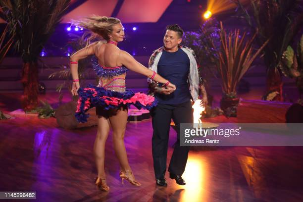"""Kerstin Ott and Regina Luca perform on stage during the 5th show of the 12th season of the television competition """"Let's Dance"""" on April 26, 2019 in..."""