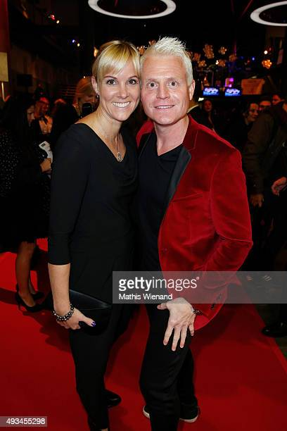 Kerstin Ricker and Guido Cantz attend the 19th Annual German Comedy Awards at Coloneum on October 20 2015 in Cologne Germany