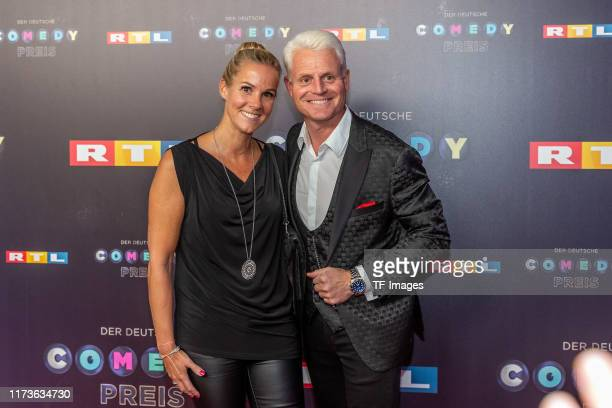 Kerstin Ricker and Guido Cantz pose for the 23rd annual German Comedy Awards at Studio in Koeln Muehlheim on October 2 2019 in Cologne Germany
