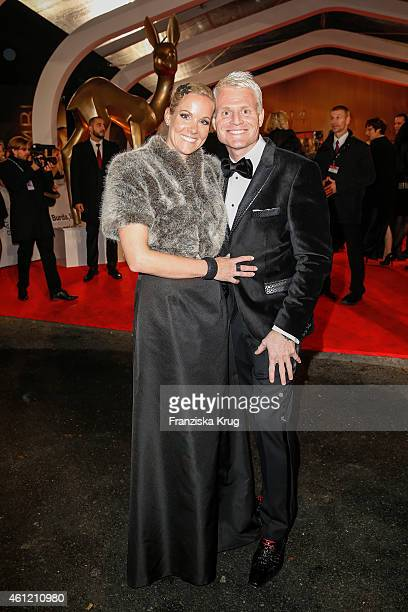 Kerstin Ricker and her husband Guido Cantz arrive at the Bambi Awards 2014 on November 13 2014 in Berlin Germany