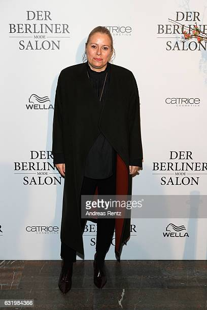 Kerstin Schneider attends the group presentation during the Der Berliner Mode Salon A/W 2017 at Kronprinzenpalais on January 18 2017 in Berlin Germany