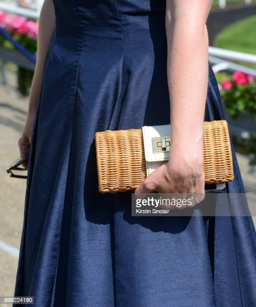 Kersty Blesto handbag detail attends day 2 of Royal Ascot at Ascot Racecourse on June 21 2017 in Ascot England