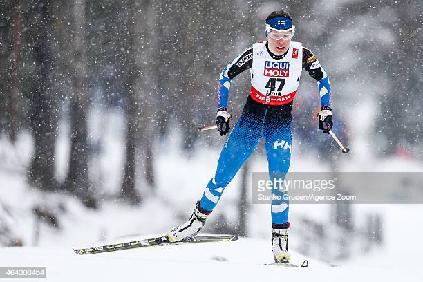 Kerttu Niskanen of Finland competes during the FIS Nordic World Ski Championships Women's CrossCountry Distance Free on February 24 2015 in Falun...