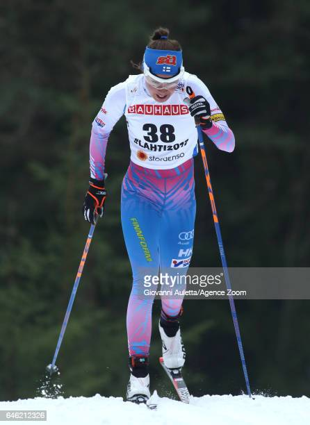 Kerttu Niskanen of Finland competes during the FIS Nordic World Ski Championships Women's Cross Country Distance on February 28 2017 in Lahti Finland