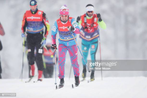 Kerttu Niskanen of Finland during the cross country training ahead of the FIS World Cup Ruka Nordic season opening at Ruka Stadium on November 23...