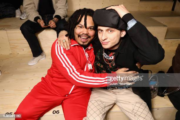 Kerwin Frost and Blondey Mccoy attend the adidas MakerLab show as part of Paris Fashion Week on January 18 2019 in Paris France