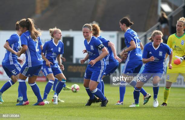 Kerys Harrop of Birmingham City LFC during Women's Super League 1 match between Arsenal Women FC against Birmingham Ladies at Borehamwood Football...