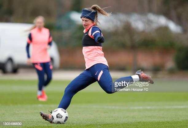 Kerys Harrop of Tottenham Hotspur Women during the Tottenham Hotspur Women training session at Tottenham Hotspur Training Centre on March 05, 2021 in...