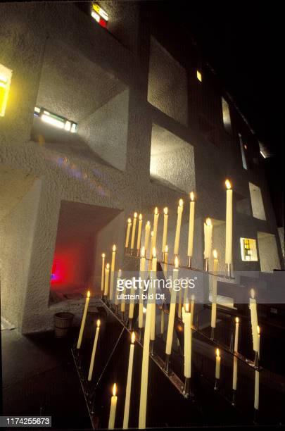"Kerzen, Kirche ""Notre Dame du Haut"", 1990"