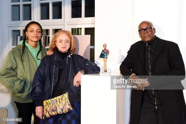 Kesewa Aboah Camilla Lowther and Charles Aboah attend the Gurls Talk x Barbie event hosted by Adwoa Aboah celebrating their collaboration at Dover...