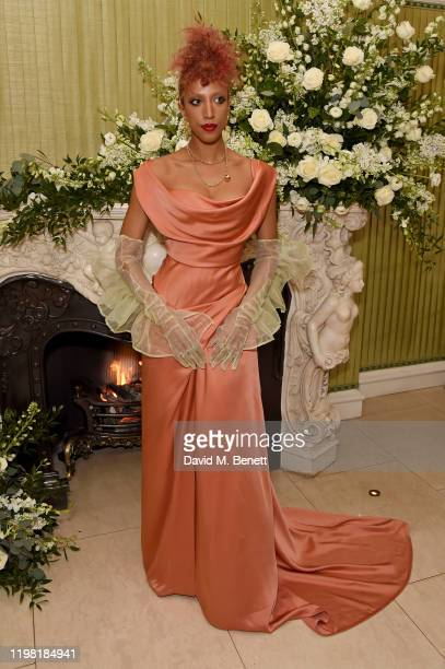 Kesh attends the British Vogue and Tiffany Co Fashion and Film Party at Annabel's on February 2 2020 in London England
