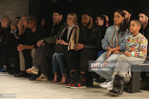 Kesha actor Cuba Gooding Jr actress AnnSophia Robb La La Anthony and Kiyan Anthony attend VFILES MADE FASHION show during MercedesBenz Fashion Week...