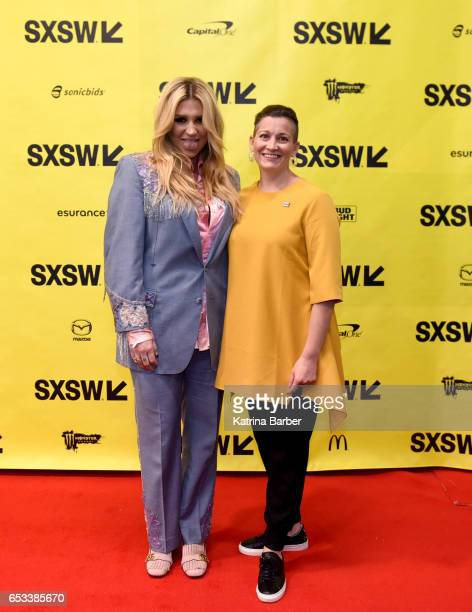 Kesha and Amy Emmerich attend 'Refinery29's Amy Emmerich and Kesha Discuss Reclaiming the Internet' during 2017 SXSW Conference and Festivals at...