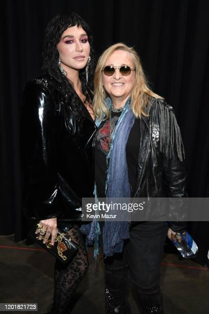 Kesha and Melissa Etheridge attend MusiCares Person of the Year honoring Aerosmith at West Hall at Los Angeles Convention Center on January 24 2020...