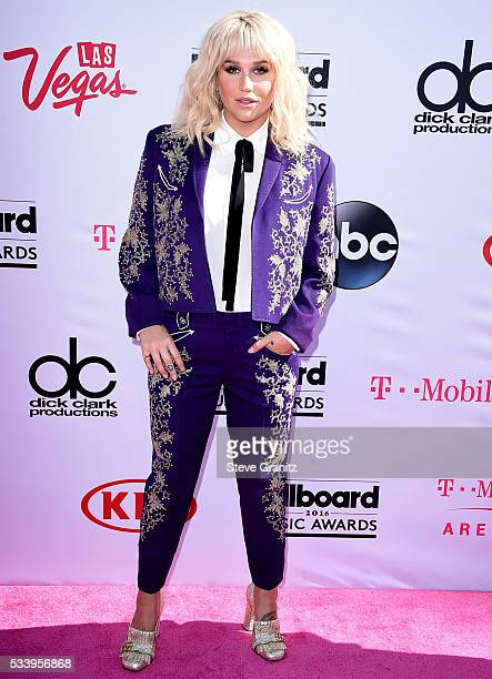 Kesha arrives at the 2016 Billboard Music Awards at TMobile Arena on May 22 2016 in Las Vegas Nevada