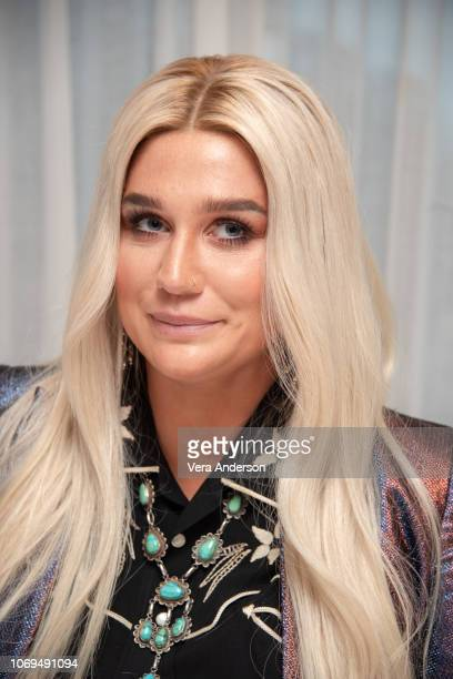 Kesha at the 'On the Basis of Sex' Press Conference at The London Hotel on November 18 2018 in West Hollywood California