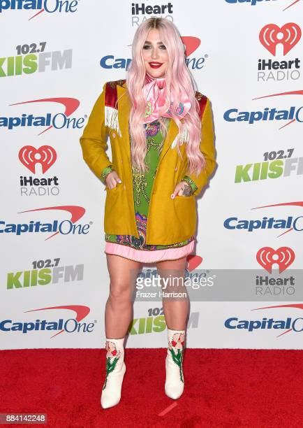 Kesha attends 1027 KIIS FM's Jingle Ball 2017 presented by Capital One at The Forum on December 1 2017 in Inglewood California