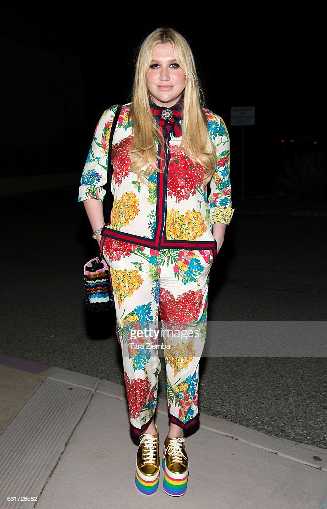 Kesha attends a screening of 'Eagles Of Death Metal: Nos Amis' at the 28th Annual Palm Springs International Film Festival at Annenberg Theater on January 14, 2017 in Palm Springs, California.