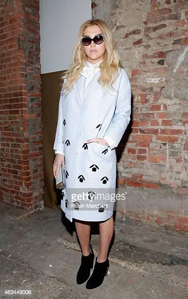 Kesha attends Christian Siriano Runway at ArtBeam on February 14 2015 in New York City