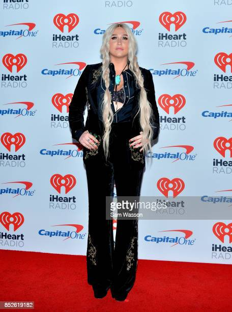 Kesha attends the 2017 iHeartRadio Music Festival at TMobile Arena on September 23 2017 in Las Vegas Nevada