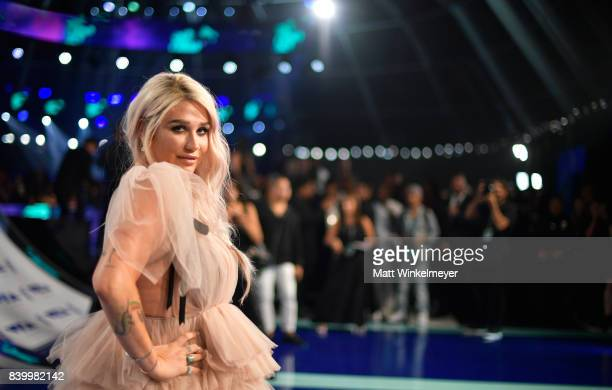 Kesha attends the 2017 MTV Video Music Awards at The Forum on August 27 2017 in Inglewood California