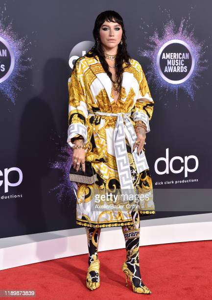 Kesha attends the 2019 American Music Awards at Microsoft Theater on November 24 2019 in Los Angeles California