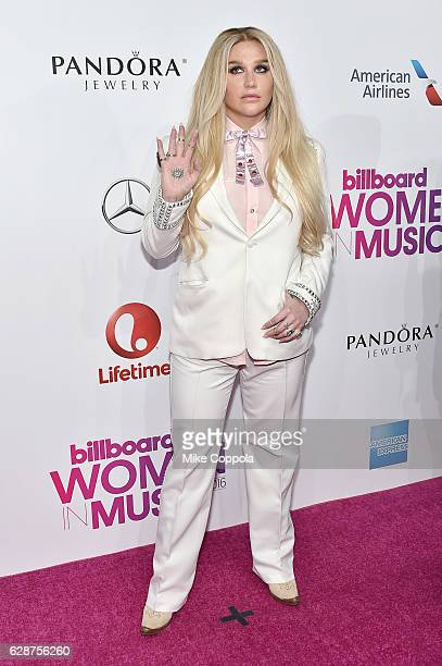 Kesha attends the Billboard Women in Music 2016 event on December 9 2016 in New York City