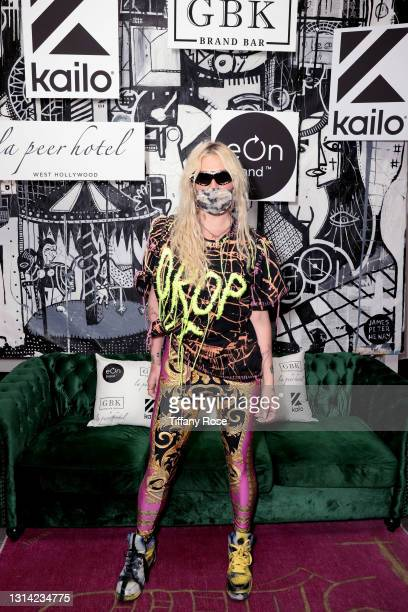 Kesha attends the EON Mist Sanitizer Pre-Oscars Lounge presented by GBK Brand Bar at La Peer Hotel on April 24, 2021 in Los Angeles, California.