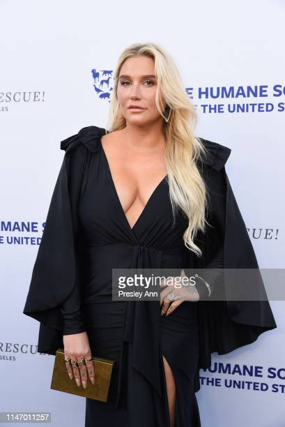 Kesha attends The Humane Society of the United States Los Angeles Gala 2019 at Paramount Studios on May 04, 2019 in Hollywood, California.