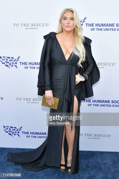 Kesha attends The Humane Society Of The United States To The Rescue Los Angeles Gala 2019 at Paramount Studios on May 04 2019 in Hollywood California