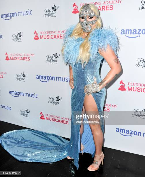 Kesha attends the MusiCares Concert For Recovery presented by Amazon Music Honoring Macklemore at The Novo by Microsoft on May 16 2019 in Los Angeles...