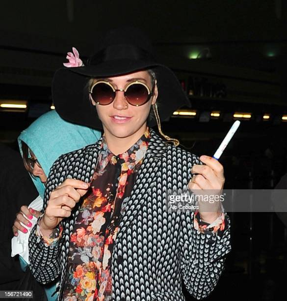 Kesha is seen arriving at JFK Airport at Streets of Manhattan on November 19 2012 in New York City