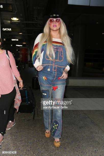 Kesha is seen at LAX on July 05 2017 in Los Angeles California