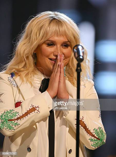 Kesha is seen on stage during the 2016 Billboard Music Awards held at the TMobile Arena on May 22 2016 in Las Vegas Nevada