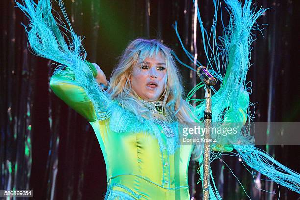 Kesha is the first entertainer to perform in concert at Harrah's Waterfront on August 6 2016 in Atlantic City New Jersey