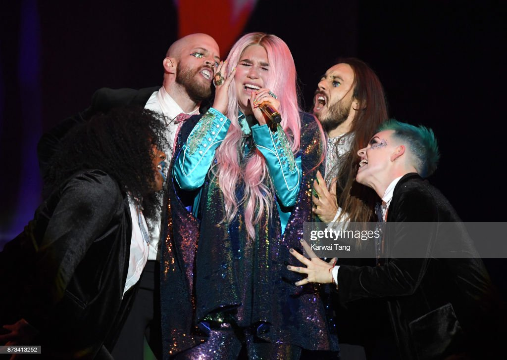 Kesha on stage during the MTV EMAs 2017 held at The SSE Arena, Wembley on November 12, 2017 in London, England.