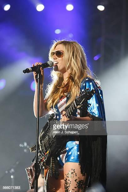Kesha performs during KIIS–FM's Wango Tango concert at the Staples Center