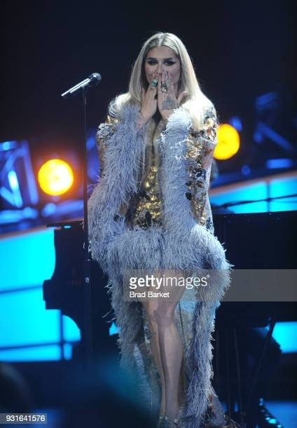 Kesha performs during the Elton John I'm Still Standing A Grammy Salute at The Theater at Madison Square Garden on January 30 2018 in New York City
