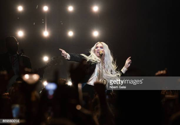 Kesha performs in concert during the Rainbow tour at Hammerstein Ballroom on October 9 2017 in New York City