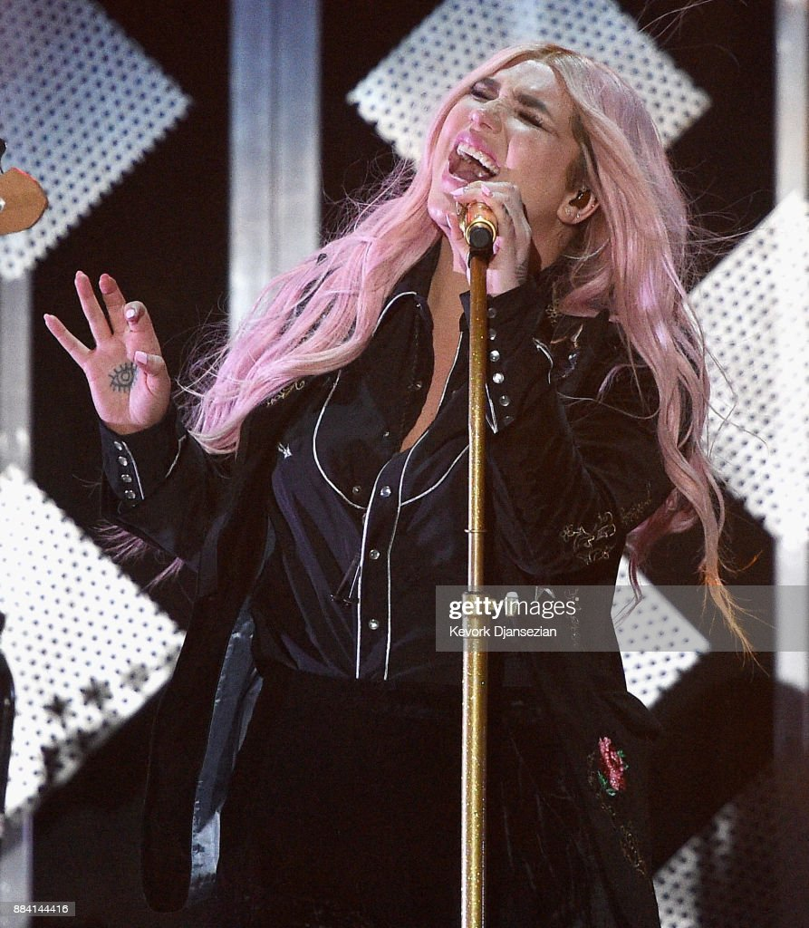 Kesha performs onstage during 102.7 KIIS FM's Jingle Ball 2017 presented by Capital One at The Forum on December 1, 2017 in Inglewood, California.