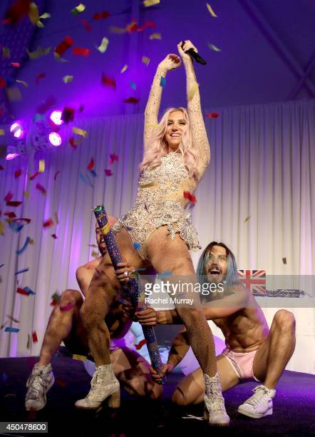 Kesha performs onstage during PATHWAY TO THE CURE A fundraiser benefiting Susan G Komen presented by Pathway Genomics Relativity Media and evian...