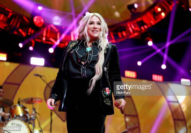 Kesha performs onstage during the 2017 iHeartRadio Music Festival at TMobile Arena on September 23 2017 in Las Vegas Nevada