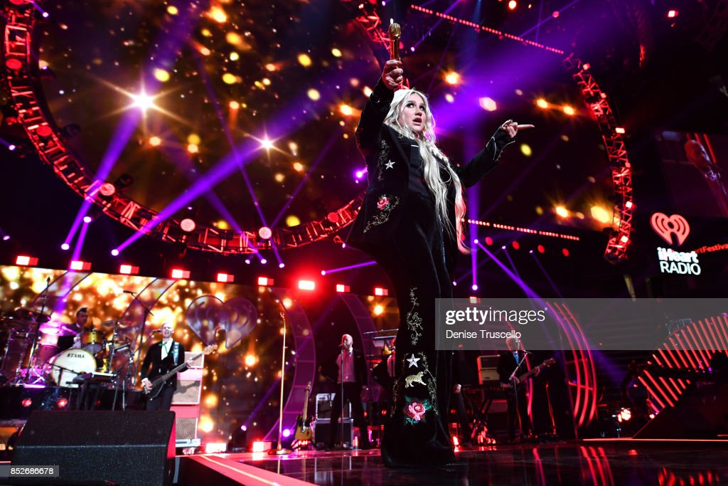 Kesha performs onstage during the 2017 iHeartRadio Music Festival at T-Mobile Arena on September 23, 2017 in Las Vegas, Nevada.