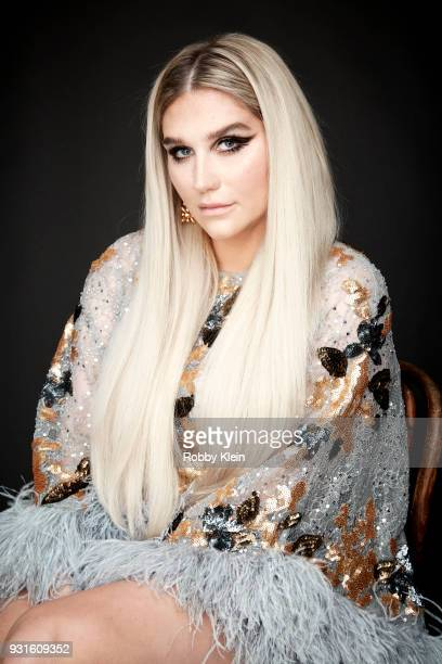 Kesha poses for a portrait at the 60th Annual GRAMMY Awards I'm Still Standing A GRAMMY Salute To Elton John at The Theater at Madison Square Garden...